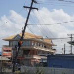 Mon Repos Residents Worried About Falling Utility Pole