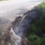 Warning to Motorists: Dangerous Breakage Along Linden-Soesdyke Highway