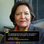 World Bank Caribbean Country Director, Tahseen Sayed, Congratulates President Ali