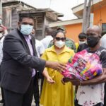 President Ali and First Lady Delivers over 150 Hampers to Residents of Tiger Bay, Georgetown