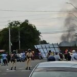 Police Fire Tear Gas, Rubber Pellets into Crowd of Protestors on West Coast Berbice