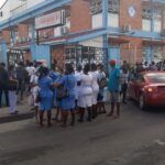 Staff of Georgetown Public Hospital Locked Out of Compound