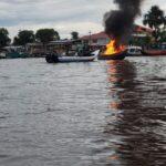 Speedboat Catches Fire in Bartica, Region 7