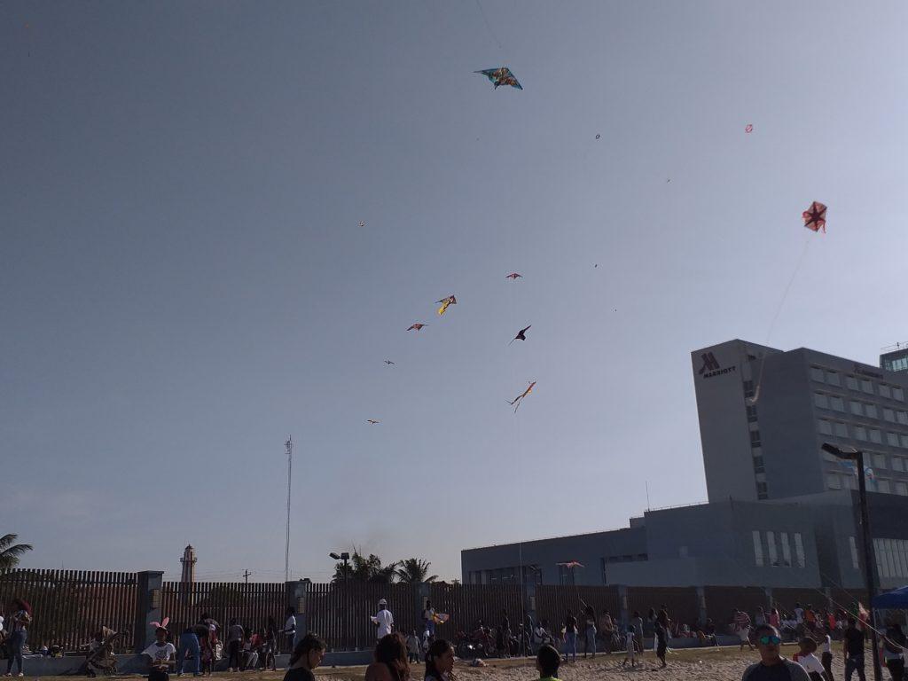 Kite Flying in Guyana, South America