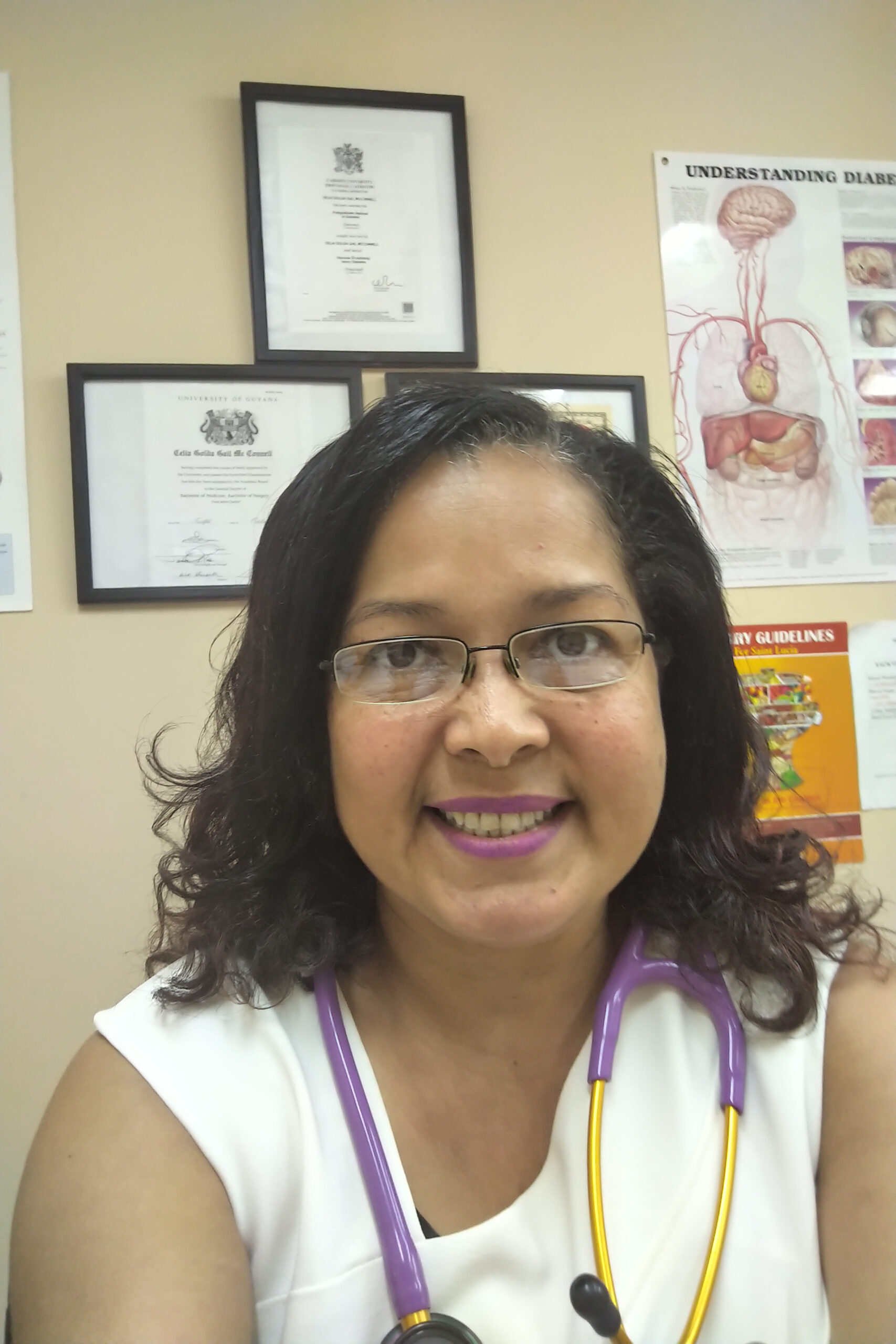 Practicing at Her Own Private Clinic in St. Lucia, Dr. Celia McConnel is a Talented Guyanese